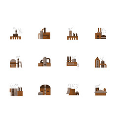 Objects of industry simple flat style icons vector