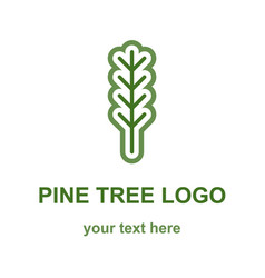 Pine or fir tree logo vector