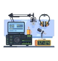 Radio station studio vector image