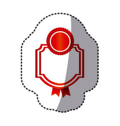red emblem with symbols inside icon vector image