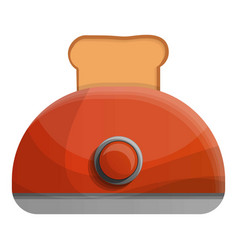 Red toaster icon cartoon style vector