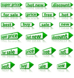 Retail Arrow Labels vector image