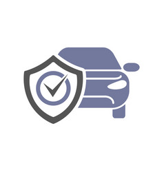 Safety insurance car isolated icon on white vector