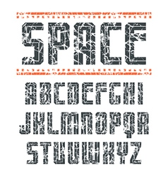 Sans serif font in sport style vector image
