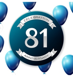 Silver number eighty one years anniversary vector