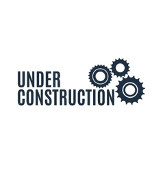 Simple under construction icon vector