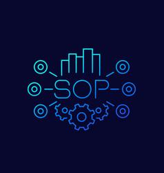 Sop standard operating procedure icon line vector