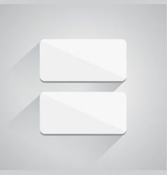 square buttons on white background vector image