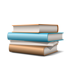 stack beige and blue pastel books books vector image