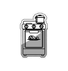 Stove household appliance vector