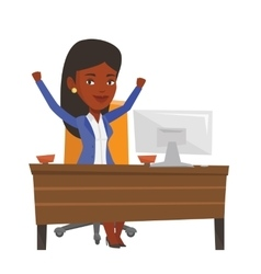 Successful business woman vector image