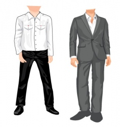 suit template vector image