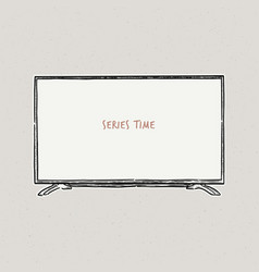 Television a sketch style vector