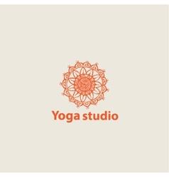 Template logo for yoga studios vector