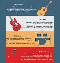 Template of poster with musical instruments vector