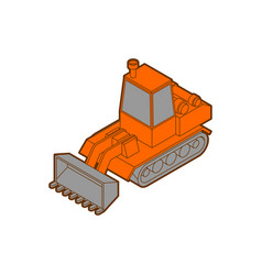 Tractor isometric style isolated agrimotor 3d vector