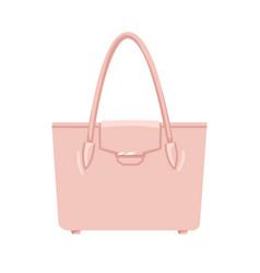 Women fashion hand bag with single top handle vector