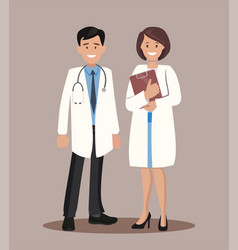 doctor and nurse vector image