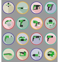 electric repair tools flat icons 20 vector image vector image