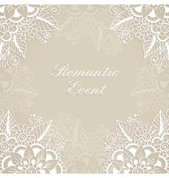 Flower ornament frame vector image vector image