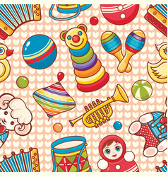 musical instrument and baby toys vector image vector image