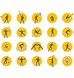 summer sports icon set vector image