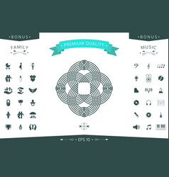 traditional geometric oriental arabic pattern vector image