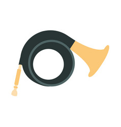 helicon part of musical instruments set of vector image vector image