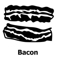 bacon icon simple black style vector image