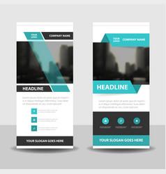 blue business roll up banner flat design vector image vector image