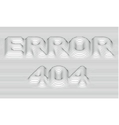 Error 404 striped background vector
