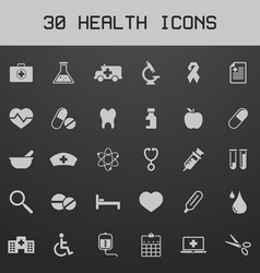 Light healthy and medicare icon set vector image vector image