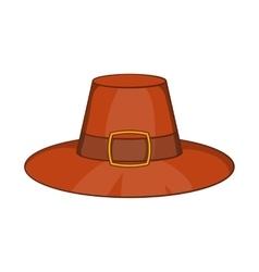 Piligrim hat icon cartoon style vector image vector image