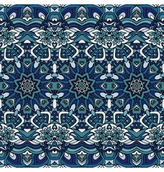 Seamless blue christmas winter gift wrap pattern vector image