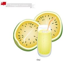 Yellow Watermelon Otai or Tongan Watermelon Drink vector image vector image