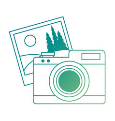 camera photographic with picture vector image