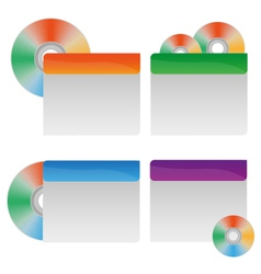 cd labels vector image vector image
