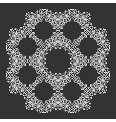 Damask wallpaper Circle lace ornament round vector image