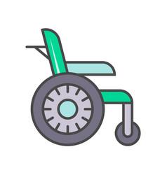 disability wheelchair linear icon vector image vector image