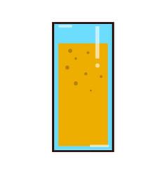 orange juice in a glass organic tropical fruit vector image