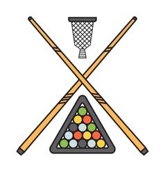 Snooker cue billiard sticks vector image vector image