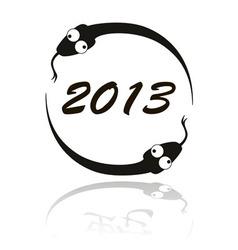 2013 Crazy Snake vector image