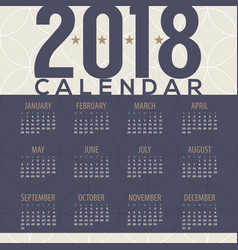 2018 tradition pattern printable calendar vector