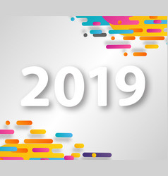 2019 happy new year design card on hipster vector image