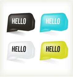 3d message hello vector image