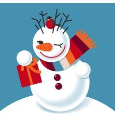 a snowman vector image