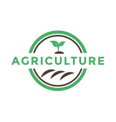 Agriculture sprout logo icon design template vector