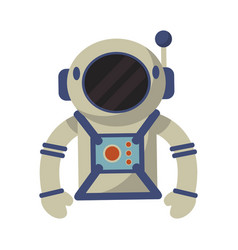 astronaut suit and helmet vector image