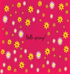 Beautiful abstract pink background with flowers vector image