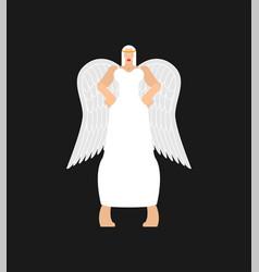 Beautiful angel woman fine female archangel in vector